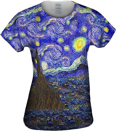 Yizzam Vincent Van Gogh – la Noche Estrellada – Tshirt- para Mujer Camiseta