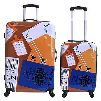 Karabar Falla Conjunto de 2 Maletas duras, Viajes mundiales: Amazon.es: Equipaje
