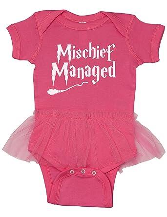 3896d7599 Harry Potter Inspired Baby Onesie W Tutu/Mischief Managed/Girl Tutu  Bodysuit (Newborn
