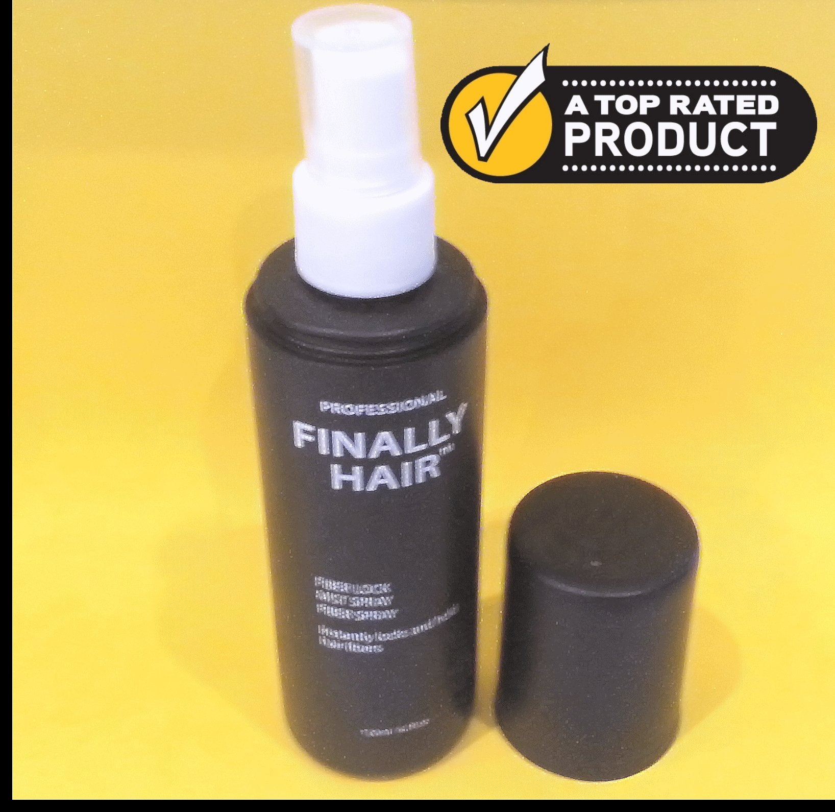 Finally Hair Spray. Fiber Lock STRONG Hold 4.1 oz. - Ideal hair spray for holding fiber in place. Use with fibers like Finally Hair, Xfusion, Strand, Finally Hair, Bosley, Nanogen, Viviscal, & others.