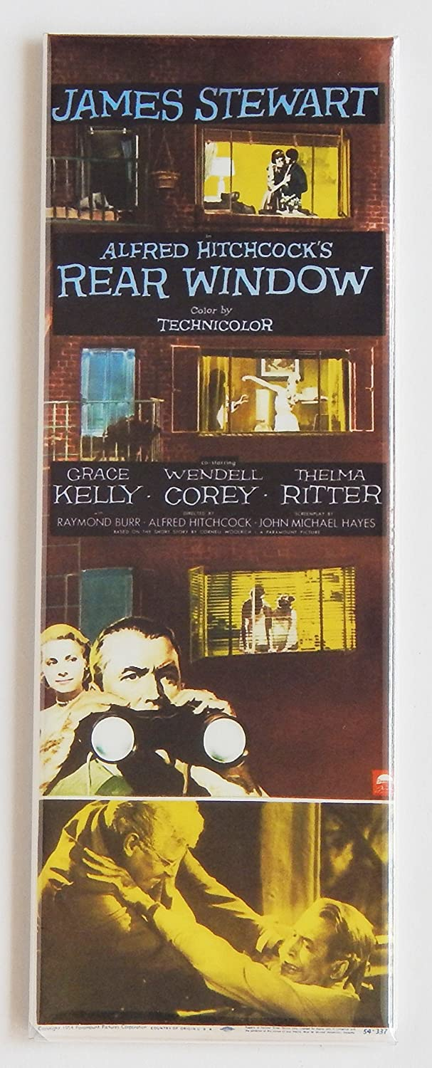 Rear Window Movie Poster Fridge Magnet (1.5 x 4.5 inches)