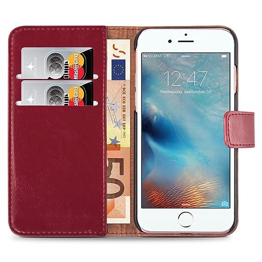 205 opinioni per Cover iPhone 8 Plus Cover iPhone 7 Plus, JAMMYLIZARD [Retro Wallet] Custodia a
