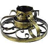 Weihnachtsbaumständer aus Metall - handbemalt - klassisches Design - Goldfarben