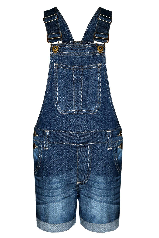 Mädchen-Kind-Denim Latzhose Shorts Ausstattungs-Kleid-Overall-Partei Größe 3-14 Jahre