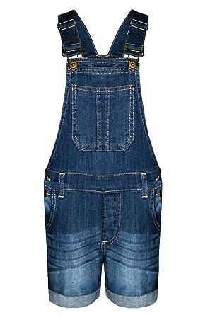 NIÑAS NIÑOS Denim Mezclilla Dungaree EQUIPAR Pantalones Cortos Vestido Jersey DE Vestido TAMAÑO 3-14 AÑOS