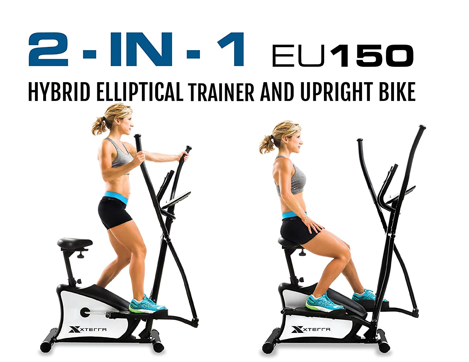 Amazon.com : XTERRA Fitness EU150 Hybrid Elliptical/Upright Bike, Black : Sports & Outdoors