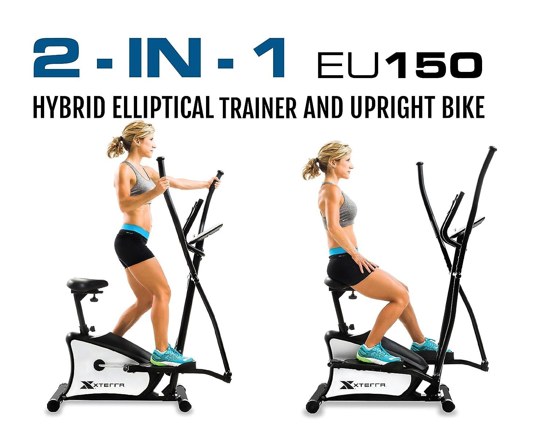 Amazon.com : XTERRA Fitness EU150 Hybrid Elliptical/Upright Bike, Black : Sports & Outdoors