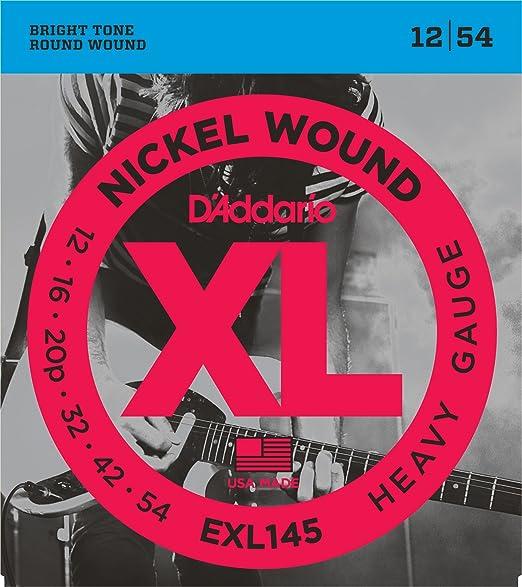 148 opinioni per D'Addario EXL145 Set di Corde Rivestite in Nickel per Chitarra Elettrica, Heavy,