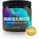 Simpli Indian Healing Pure Bentonite Clay (16 OZ)