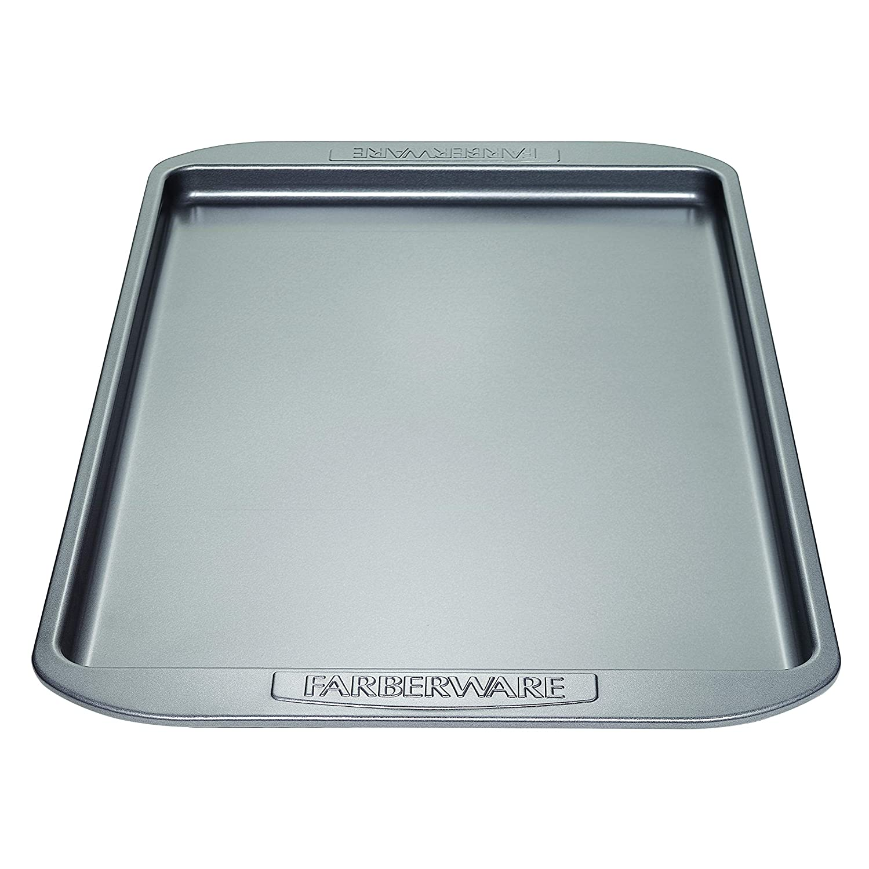 Farberware Nonstick Bakeware 11-Inch x 17-Inch Cookie Pan, Gray