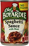 Chef Boyardee Spaghetti Sauce With Meat