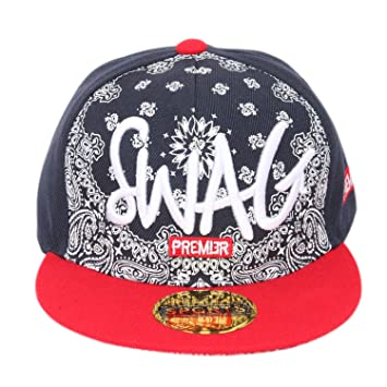 32a8b633aec Buy ILU Swag Kid s Cotton Snapback Hiphop Cap Black and Red Freesize Online  at Low Prices in India - Amazon.in