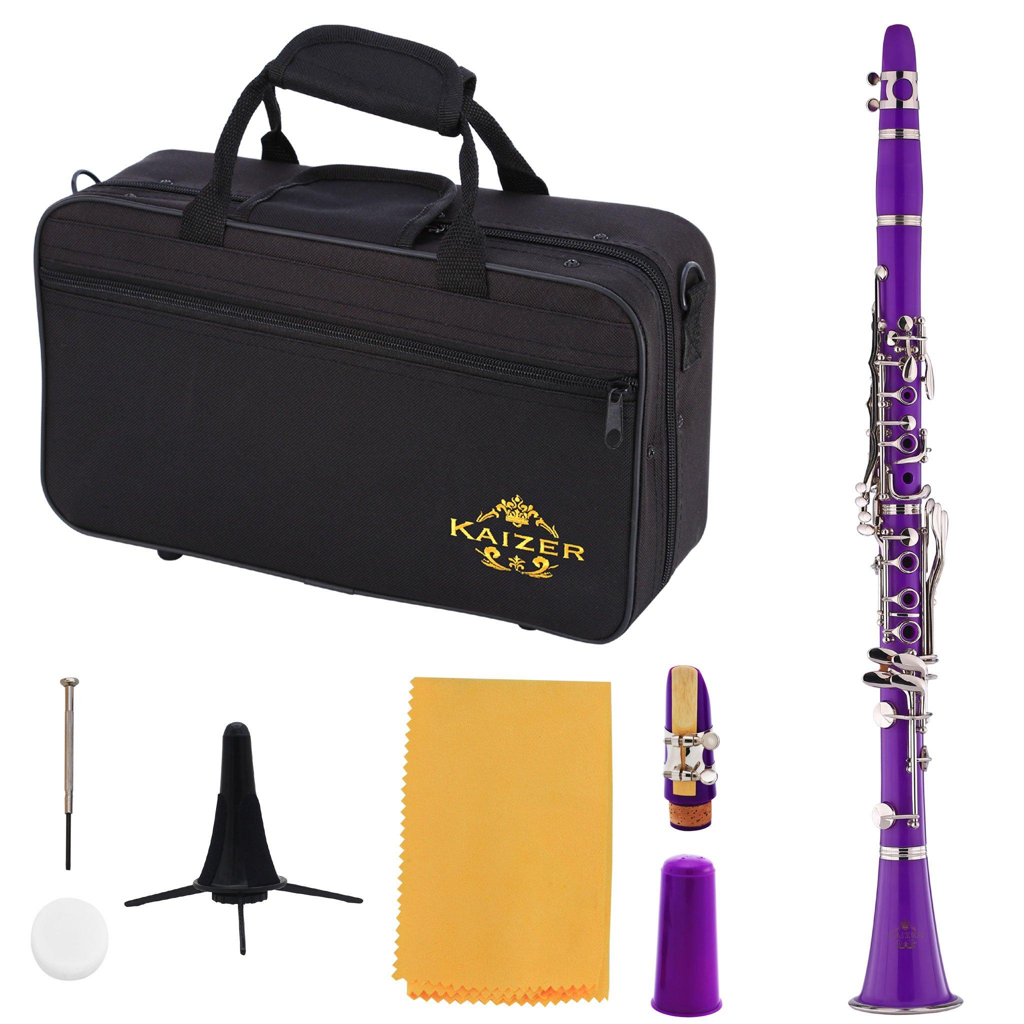 Kaizer Clarinet B Flat Bb Purple CLE-1000PL