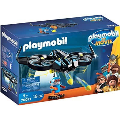 PLAYMOBIL The Movie Robotitron with Drone: Toys & Games