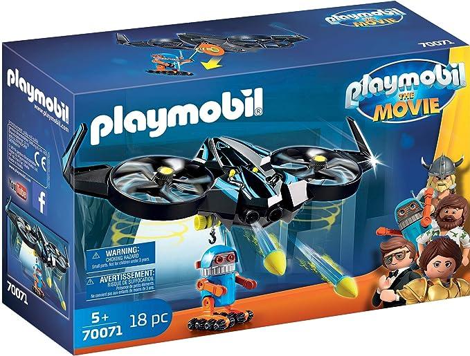 PLAYMOBIL: THE MOVIE Robotitron con Dron, a Partir de 5 Años (70071)