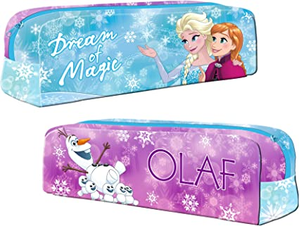 Disney Frozen - Estuche para lápices (20 cm), diseño de Frozen: Amazon.es: Oficina y papelería