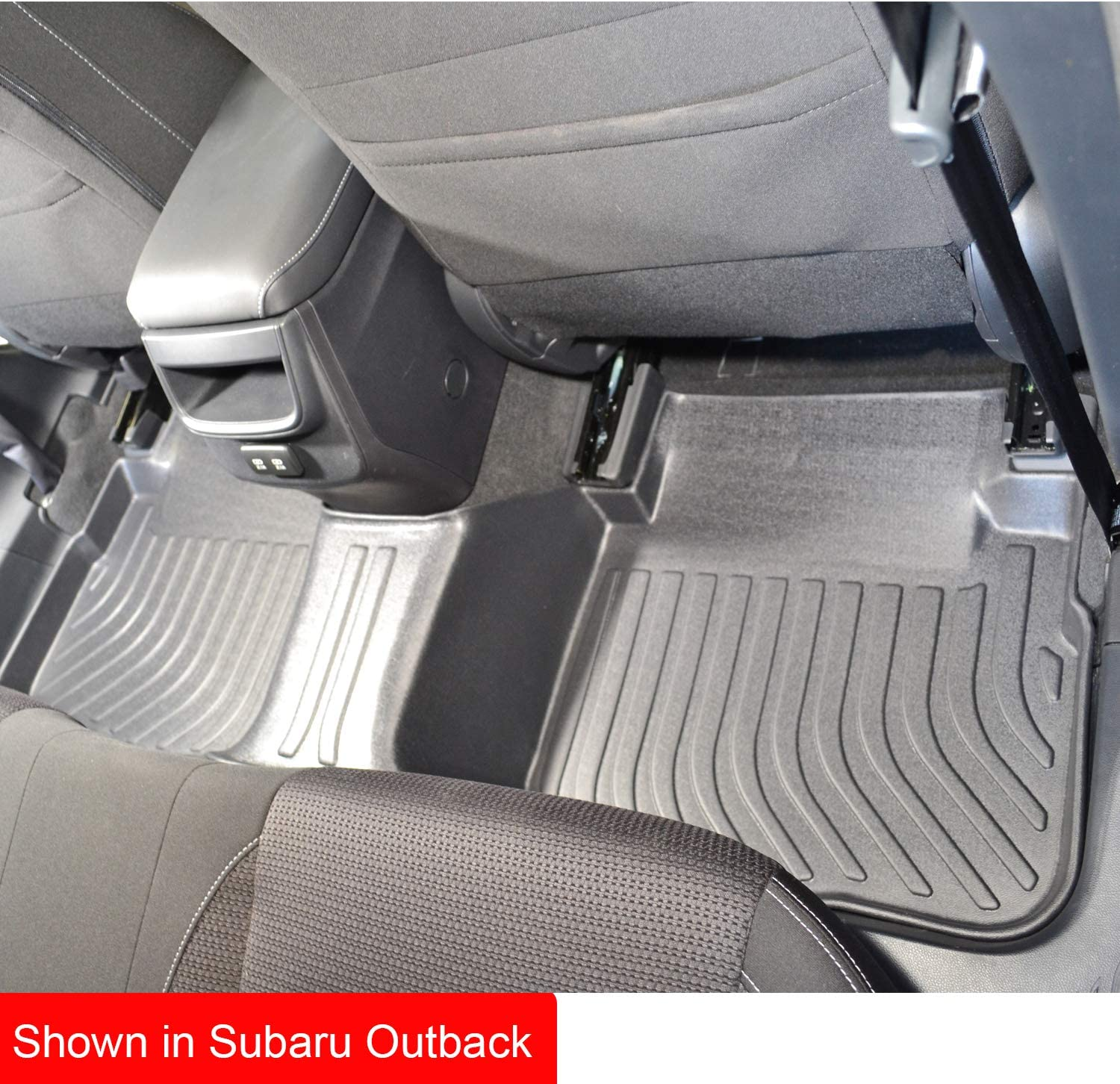 Custom Fit for Subaru Outback 2020 with Automatic Transmission Waterproof Digital Measured TPE Rubber Black. All Weather 3-Year Warranty Full Set for 1st row and 2nd row Ship from Canada Findway F100 3D Car Floor Mat // Liner