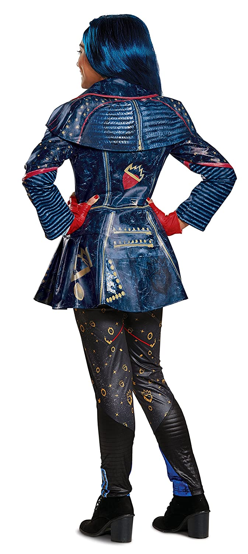 Disguise Costumes Toys Division 24253G Large Blue 10-12 Disney Evie Prestige Descendants 2 Costume