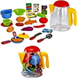 Cookware Playset Play Dishes Toy Pots and Pans with Utensils in a Reclosable Plastic Jar by Dragon Too