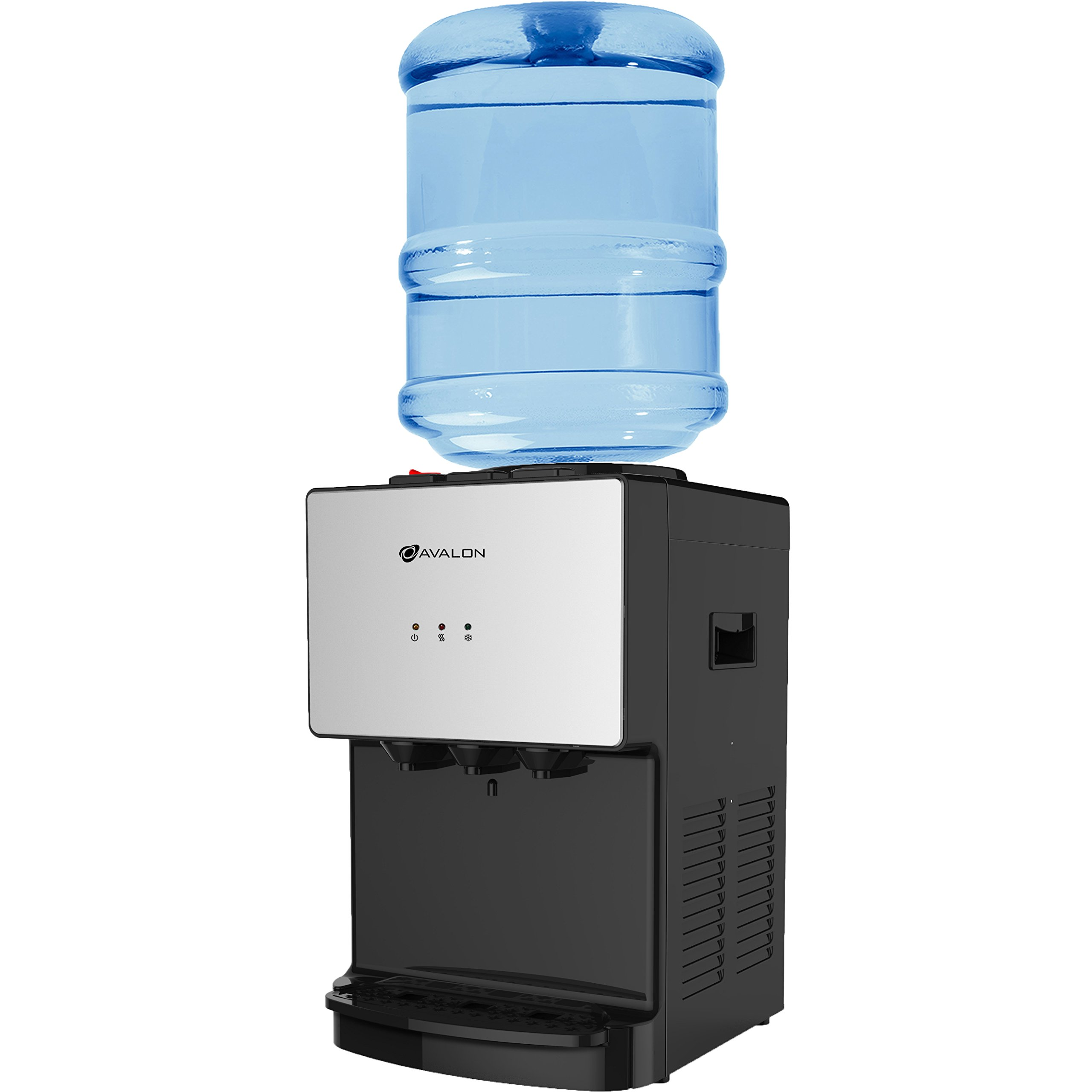 Avalon Premium Hot/Cold Top Loading Countertop Water Cooler Dispenser With Child Safety Lock. UL/Energy Star Approved (Stainless-Steel)