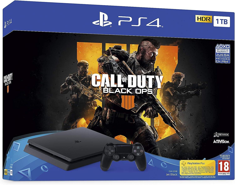 PlayStation 4 (PS4) - Consola de 1 TB + Call Of Duty Black Ops IV ...