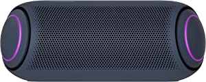 LG PL7 XBOOM Go Water-Resistant Wireless Bluetooth Party Speaker with Up to 24 Hours Playback – Black