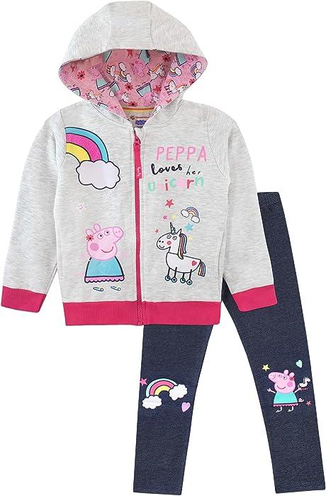 Peppa Wutz M/ädchen Peppa Pig T-Shirt und Leggings