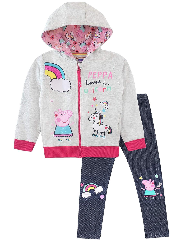 Peppa Pig Felpe con Cappuccio e Leggings per Ragazze Unicorno