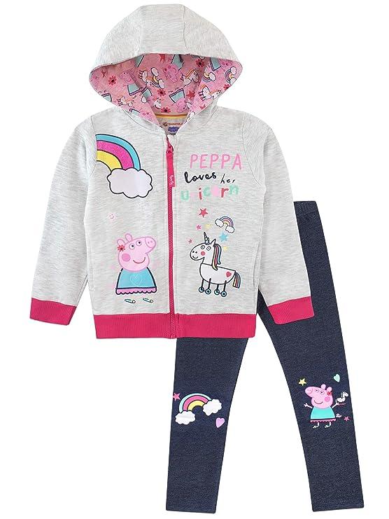 Peppa Pig Conjunto de Sudadera con Capucha y Leggings para Niñas Unicornio 3-4 Años: Amazon.es: Ropa y accesorios