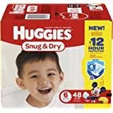 HUGGIES Snug & Dry Diapers, Size 6, 48 Count, BIG PACK (Packaging May Vary)