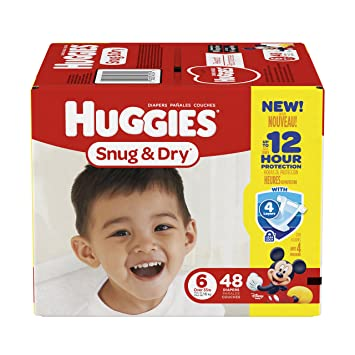 Huggies Snug & Dry Diapers, Size 6, 48 Count (Packaging May Vary)
