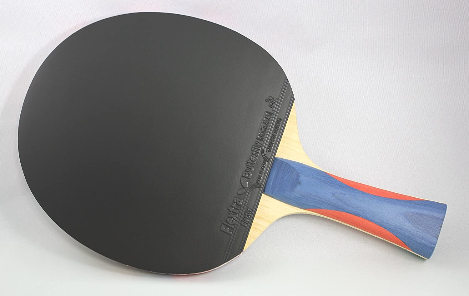 Butterfly Nakama S-8 Table Tennis Racket – Professional ITTF Approved Ping Pong Paddle – Flextra Table Tennis Rubber and Thick Sponge Layer Ping Pong Racket – 2 Ping Pong Balls Included : Sports & Outdoors
