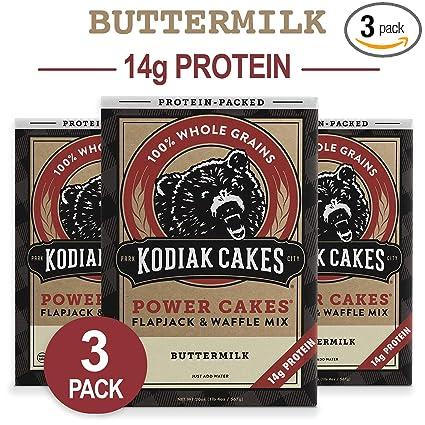 Mezcla para panqueques y waffles Power Cakes de Kodiak Cakes ...