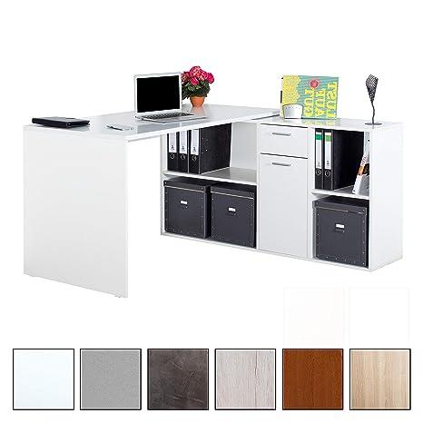 Ricoo Schreibtisch Winkelkombination Wm081 W Arbeitstisch Computer
