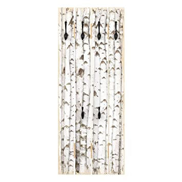 Bilderwelten Perchero de Madera - No.YK15 Birch Wall ...