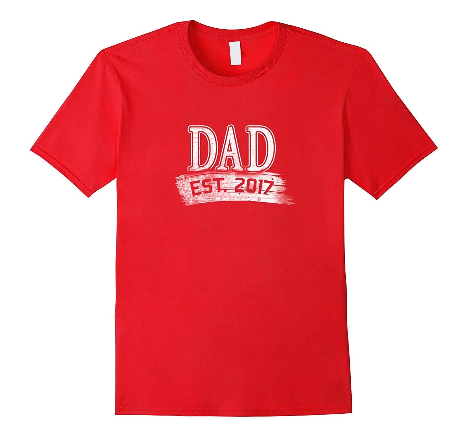 Mens Fathers Day T-Shirt Cool 2017 First Time Dad Gift Shirts-Vaci
