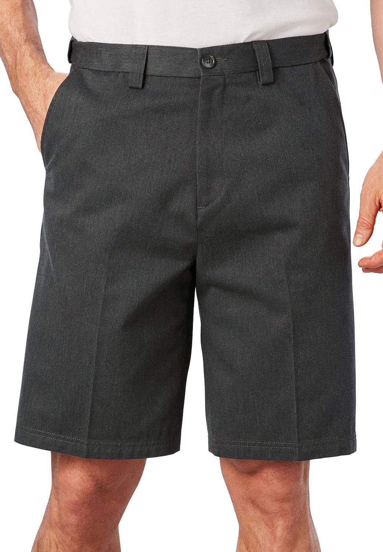 KingSize Mens Big /& Tall Classic Fit Wrinkle-Free Expandable Waist Plain Front Shorts