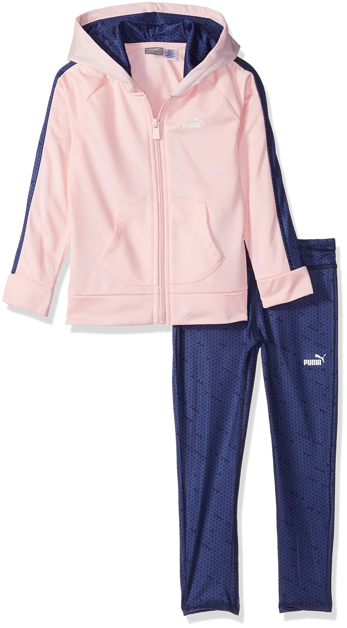 PUMA Little Girls' Track Jacket and Legging Set, Crystal Rose, 5