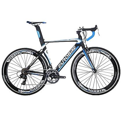 Amazon.com : EUROBIKE XC7000 54CM Light Aluminum Frame Road Bike 14 ...