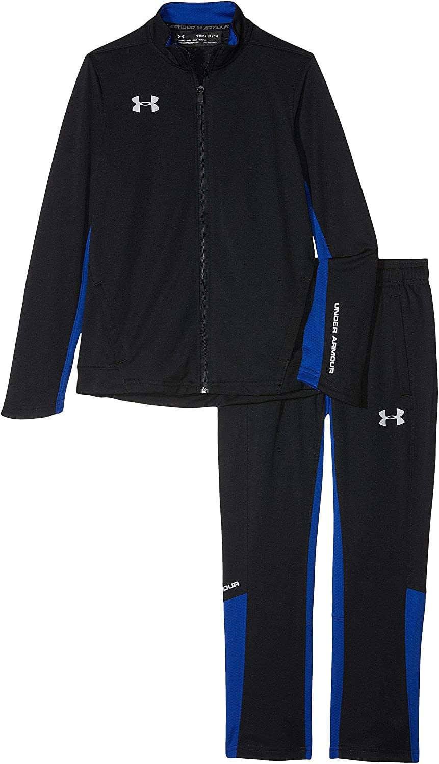 Under Armour y Challenger II Knit Warm-Up Chándal, Niños, Negro ...