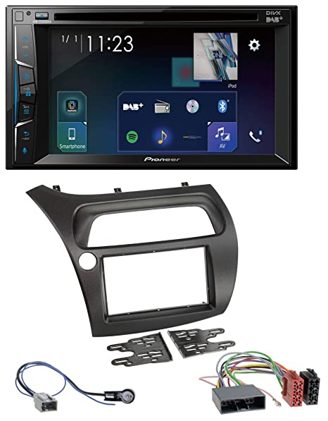 caraudio24 Pioneer Z310 0dab DVD 2DIN Bluetooth Dab USB MP3 Radio de Coche para Honda Civic