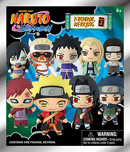 Viz Media 70510 Naruto Series 2-3D Foam Key Ring in Blind Bag Collectible Keyrings, Multicolor