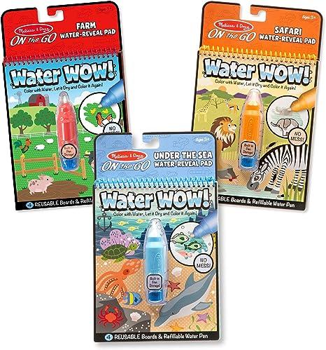 Melissa & Doug Water Wow Bundle: Farm, Safari & Under The Sea