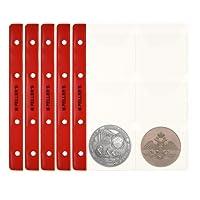 10 Feuilles pour collection de pièces de monnaie, 46mm X 50mm (pour classeur M). 6 Pochettes pour monnaies jusqu'à 55 mm de diamètre. …