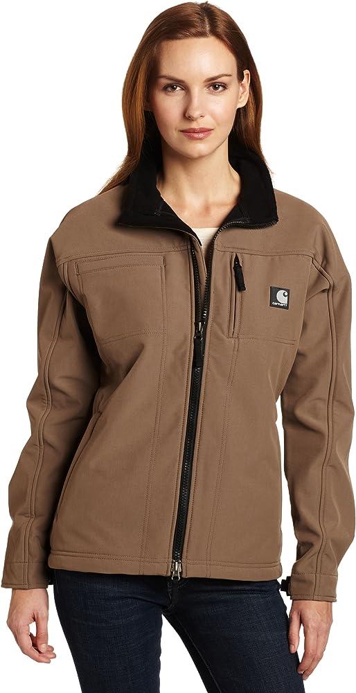 Amazon.com: Carhartt chamarra Soft Shell para mujer, L: Clothing