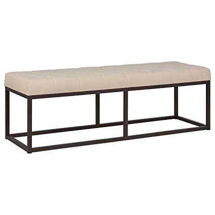 Amazon.com: Stone & Beam Contemporary Metal Bedroom Bench with ...