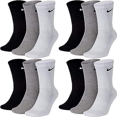 esposa Hazlo pesado el estudio  Nike - Calcetines largos para hombre y mujer, 12 pares, talla 34, 36, 38,  40, 42, 44, 46, 48, 50, talla 38-42, código de color + color: A48, 12  pares, multicolor: Amazon.es: Ropa y accesorios