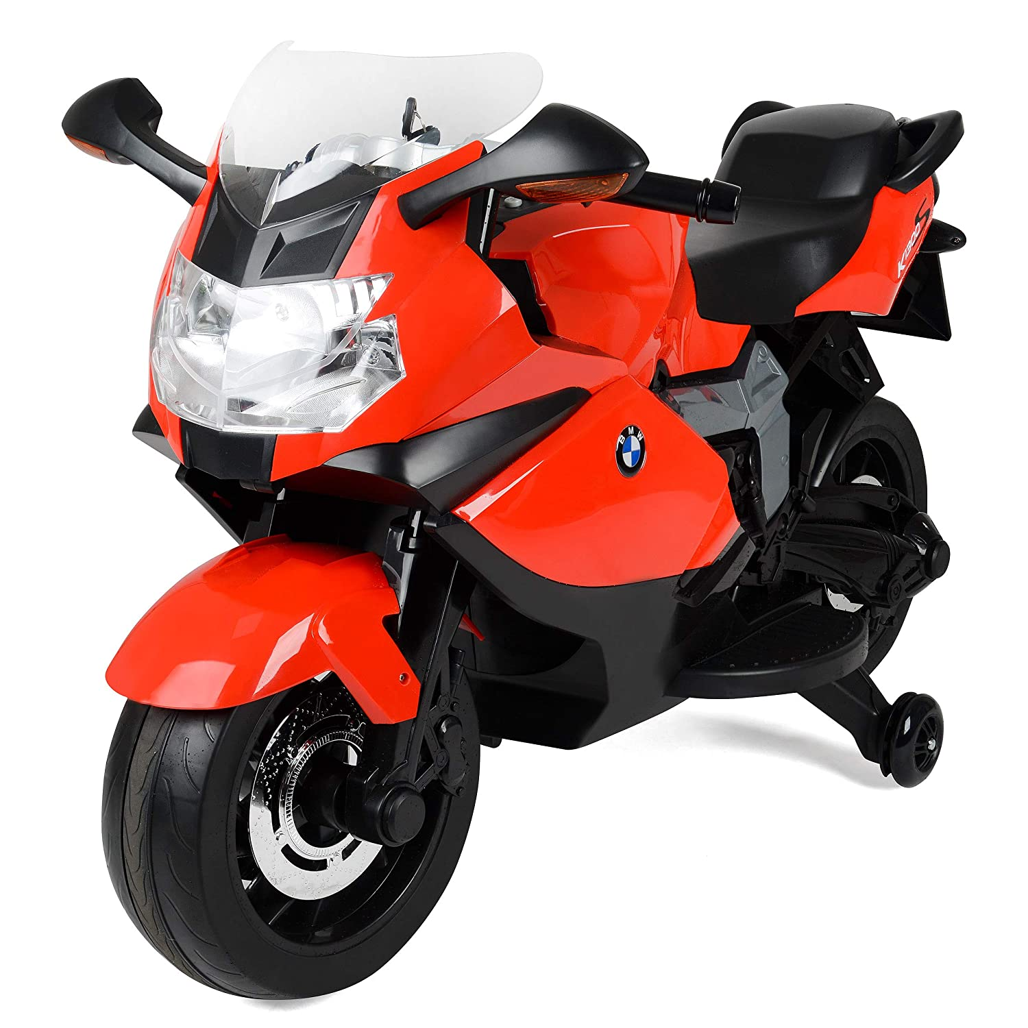 BMW Officially Licensed Electric Ride-On Motorbike for Kids with Headlights  and Sound Effects, Red