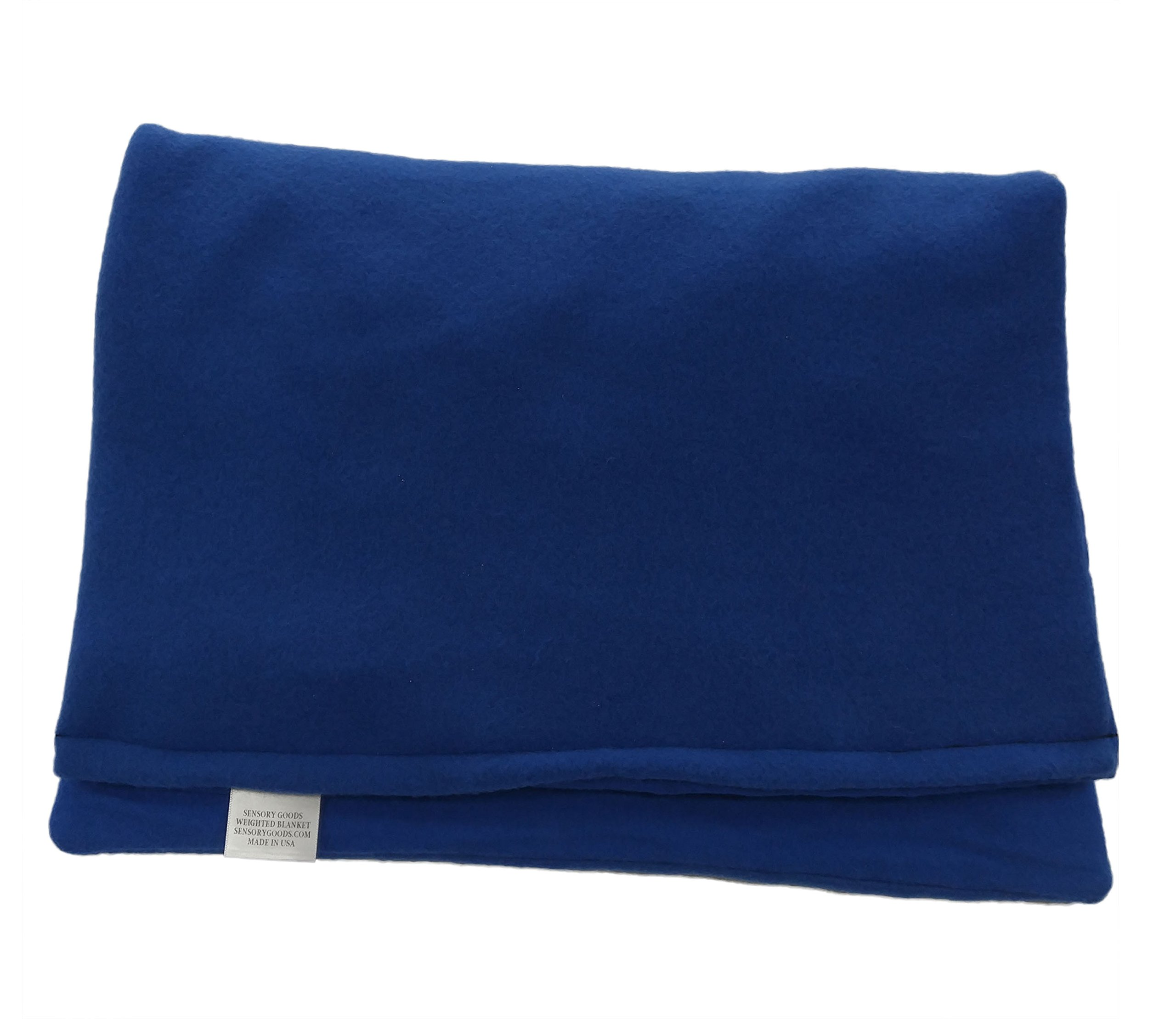 Sensory Goods Large Weighted Lap Pad - 7lb - 17'' x 23'' (Blue)