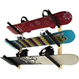 StoreYourBoard 3 Snowboard Rack | Wood Wall Storage Mount